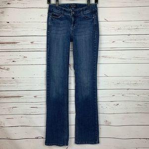 White House Black Market Bootleg Jeans w/ Beading